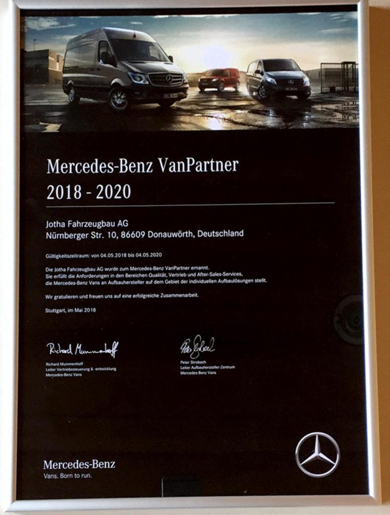 Jotha ist Mercedes-Benz VanPartner