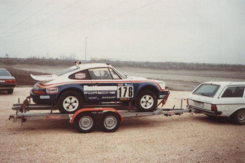 Der Sieger der Ralley Paris-Dakar 1984: auf einem Jotha-Anhänger