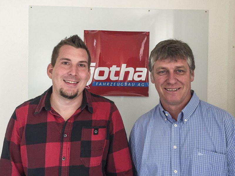 Ulrich Kreisbeck (links) mit unserem Technik-Vorstand Stefan Schmid